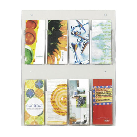 Safco 5673CL Clear2c™ 8 Pamphlet Display - Peazz Furniture