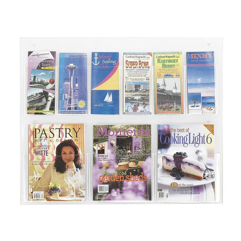 Safco 5666CL Clear2c™ 3 Magazine and 6 Pamphlet Display - Peazz Furniture