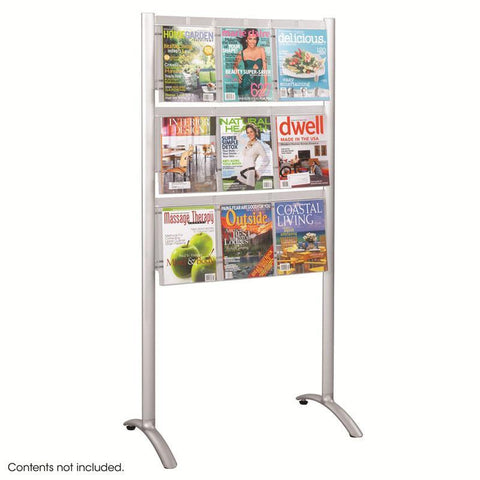 Safco 4135SL Luxe™ Magazine Floor Rack - 9 pocket - Safcomart