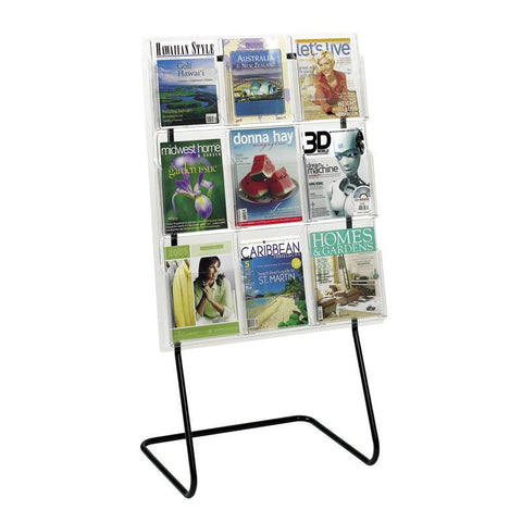 Safco 5619BL Magazine Display Floor Stand - Peazz Furniture