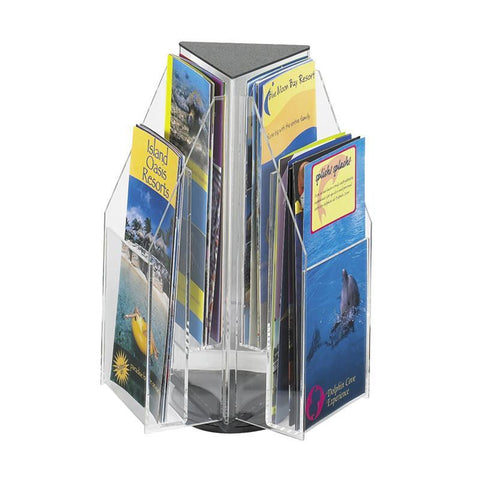 Safco 5697CL Reveal™ 6 Pamphlet Tabletop Displays - Peazz Furniture