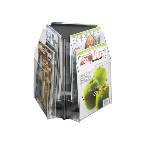 Safco 5698CL Reveal™ 6 Magazine Tabletop Displays - Peazz Furniture