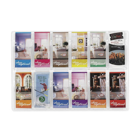 Safco 5604CL Reveal™ 12 Pamphlet Display - Peazz Furniture