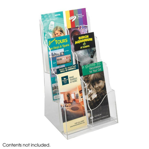 Safco 5635CL Acrylic 3 Pocket Magazine Display - Peazz Furniture