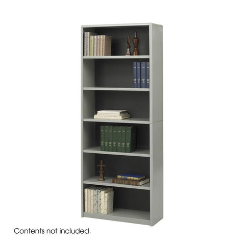 Safco 7174GR 6-Shelf ValueMate® Economy Bookcase - Peazz Furniture