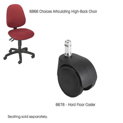 Safco 6678 Hard Casters - Peazz Furniture