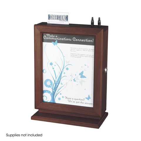 Safco 4236MH Customizable Wood Suggestion Box - Safcomart