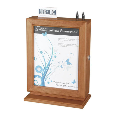Safco 4236CY Customizable Wood Suggestion Box - Safcomart