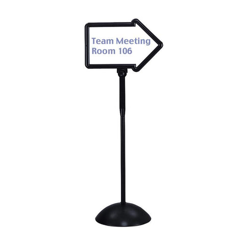 Safco 4173BL Write Way® Directional Sign - Safcomart