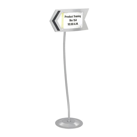 Safco 4169GR Customizable Arrow Sign - Safcomart