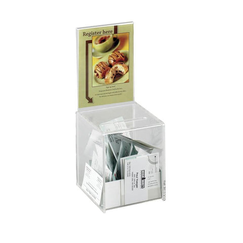 Safco 4235CL Small Acrylic Collection Boxes - Safcomart