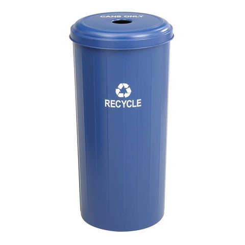 Safco 9632BU Tall Round Recycling Receptacle - Peazz Furniture