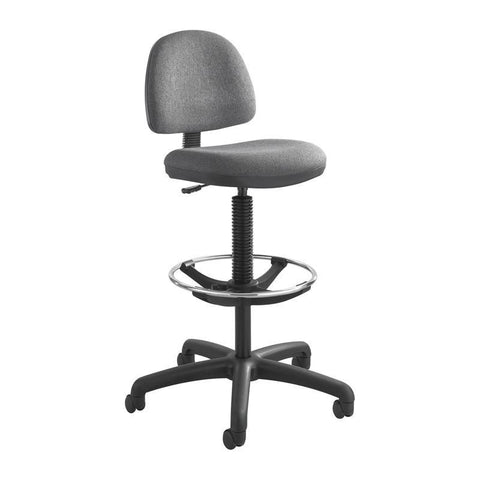 Safco 3401DG Precision Extended-Height Chair with Footring - Peazz Furniture