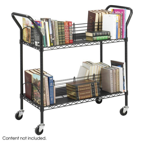 Safco 5333BL Wire Book Cart - Peazz Furniture