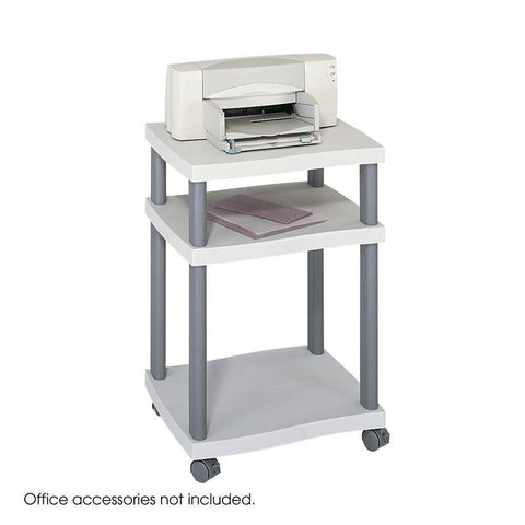 Safco 1860GR Wave Desk Side Printer Stand - Safcomart