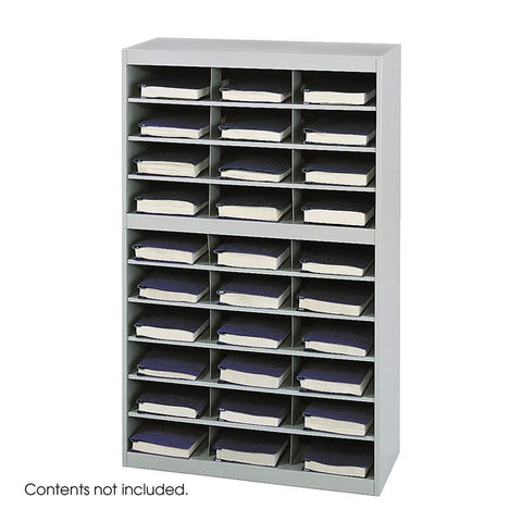 Safco 9274GR E-Z Stor® Steel Project Organizer, 30 Compartments - Peazz Furniture