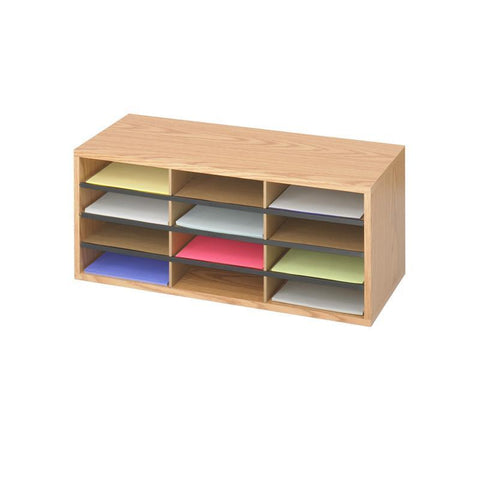 Safco 9401MO Wood/Corrugated Literature Organizer, 12 - Peazz Furniture