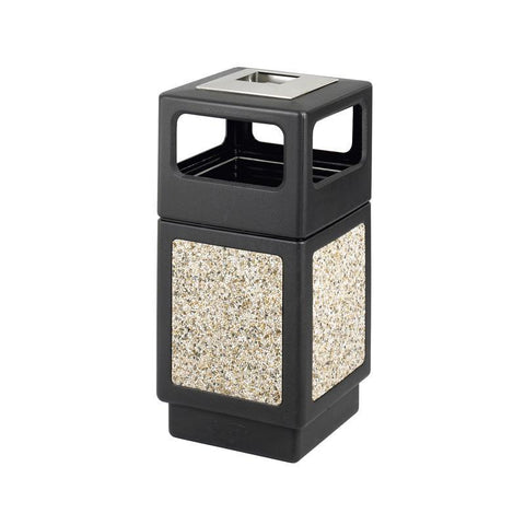 Safco 9473NC Canmeleon™ Aggregate Panel, Ash Urn/Side Open, 38 Gallon - Peazz Furniture