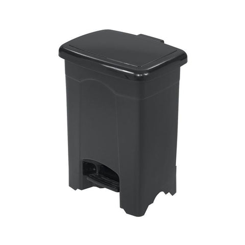 Safco 9710BL Plastic Step-On Receptacle, 4-Gallon - Peazz Furniture