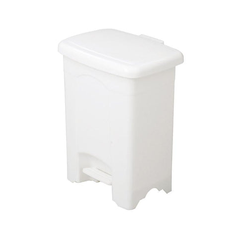 Safco 9710WH Plastic Step-On Receptacle, 4-Gallon - Peazz Furniture