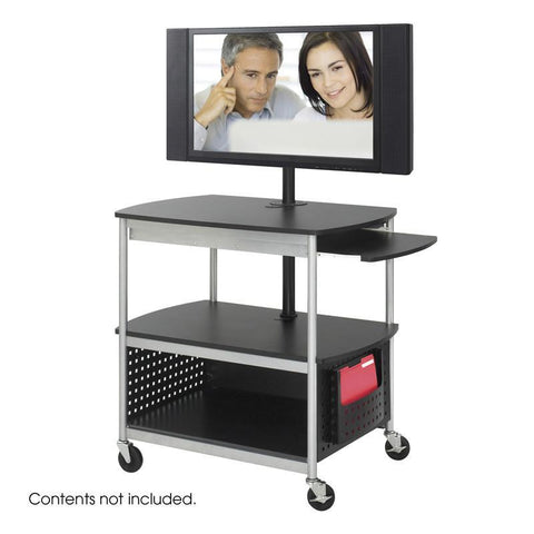 Safco 8940BL Scoot™ Open Flat Panel Multimedia Cart - Peazz Furniture
