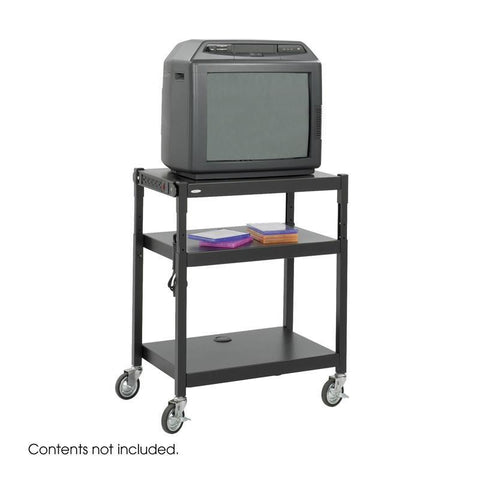 Safco 8932BL Steel Adjustable Height Cart - Peazz Furniture