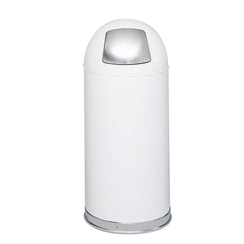 Safco 9636WH Push Door Dome Top Receptacles - Peazz Furniture