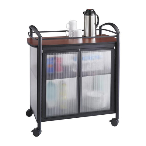 Safco 8966BL Impromptu® Refreshment Cart - Peazz Furniture