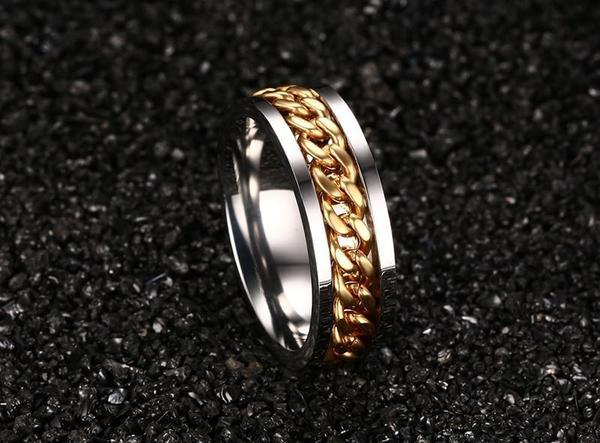 FREE - THE EMPEROR - LUXURY STAINLESS STEEL BANDED RING