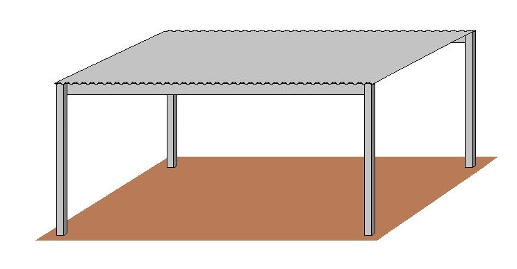 12'D x 16'L Free Standing Shelter