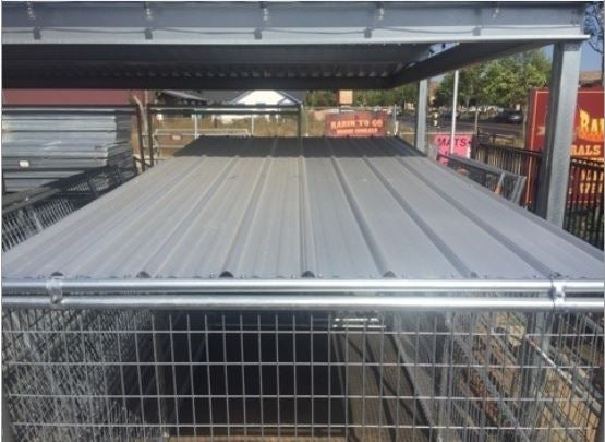 8'L x 6'W Dog Kennel Solid Roof Panel