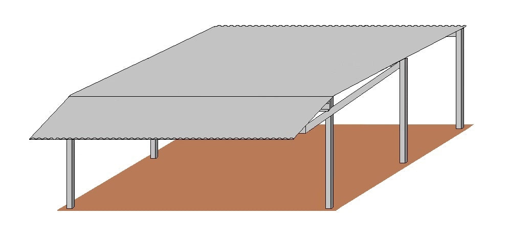 32'D x 24'W Shed Row Cover