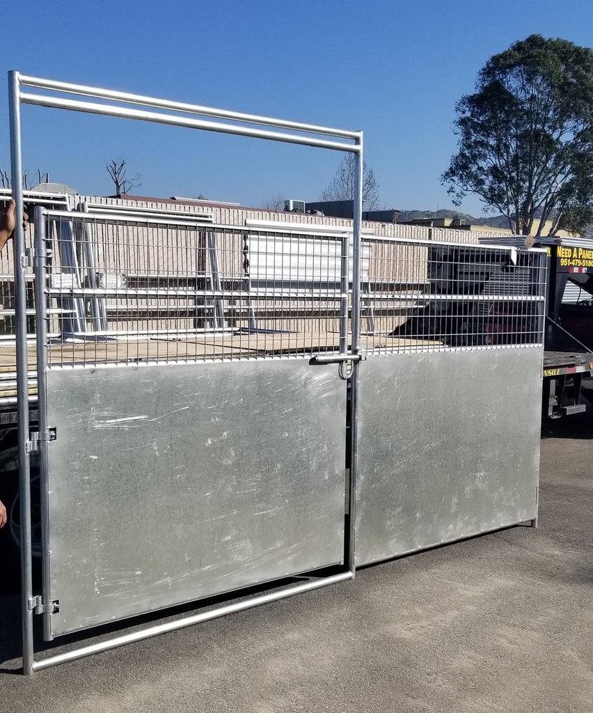 12'W x 6'H Solid Wall Panel w/ Gate