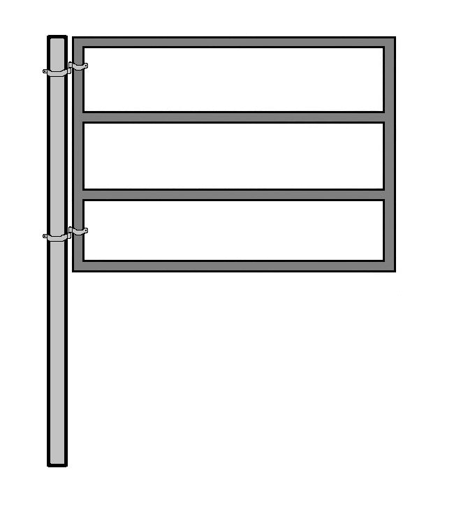 6'W x 5'H 4-Rail Ranch Gate 1-5/8 KIT