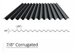 "7/8"" Corrugated (BARE)  CALL TO ORDER"
