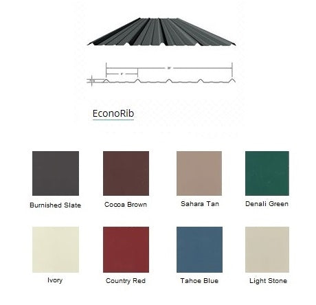 RTG Roofing Sheet Color
