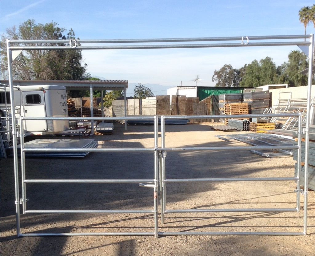 12'W Clamp On 4-Rail 1-5/8 Double Ranch / Arena Gate