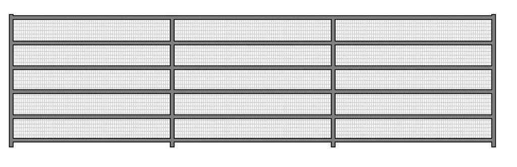 24'W x 6'H Corral Welded Wire Panel 6-Rail 1-7/8