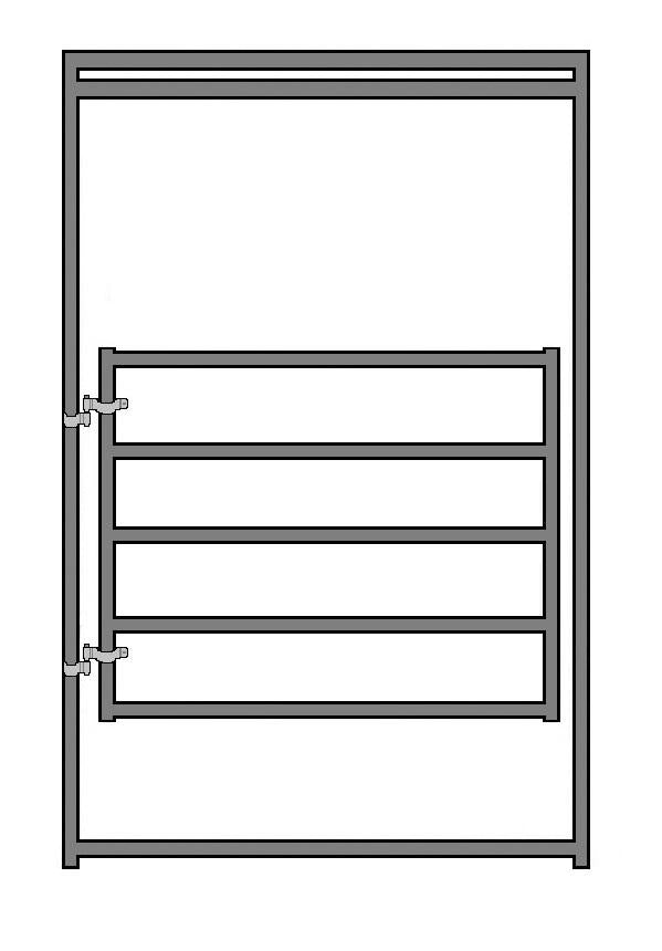 8'H x 6'W 5-Rail 1-7/8 Round Pen Gate