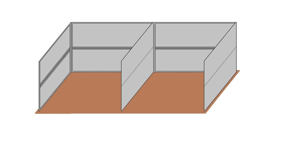 12'D x 12'W Wind Break Solid Wall Dual Kit