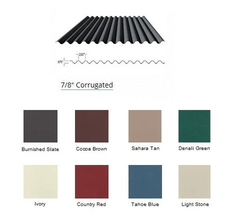 "7/8"" Corrugated (COLOR)  CALL TO ORDER"
