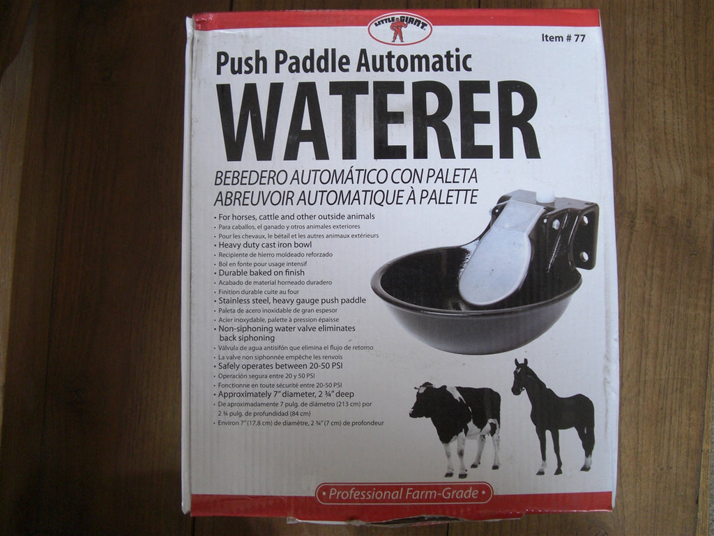 Automatic Waterer Push Paddle