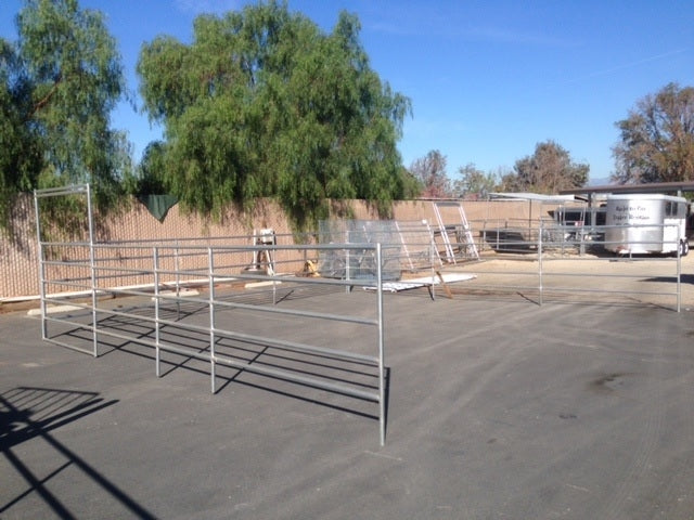 24'W x 24'D Corral 5-Rail 1-5/8 Add-On