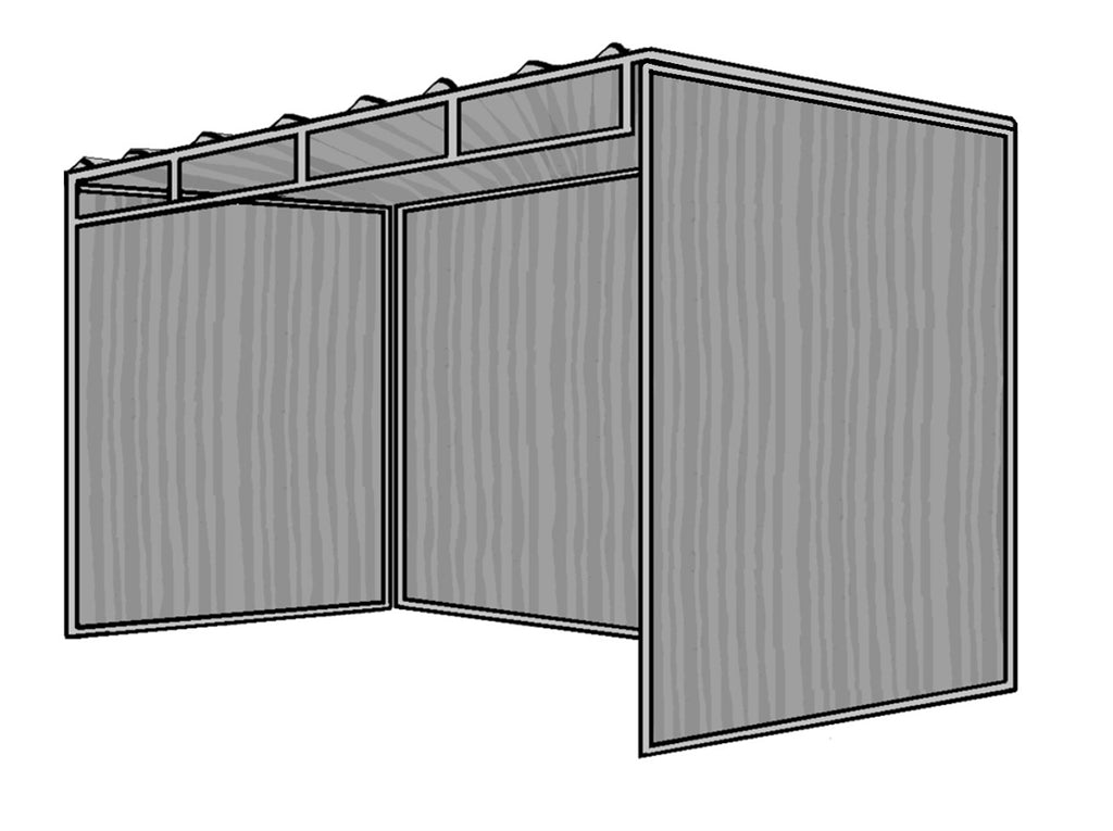 6 D X 12 W X 6 H Mini Horse Shelter 3 Sided 1 3 8 Rarin To Go Corrals