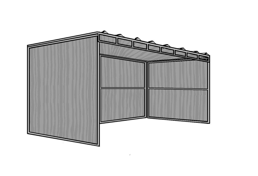 8'D x 24'L 3-Sided Shelter