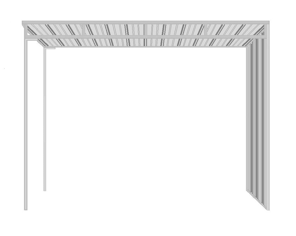 8'D x 12'L 1-Sided Shelter (Side Panel)