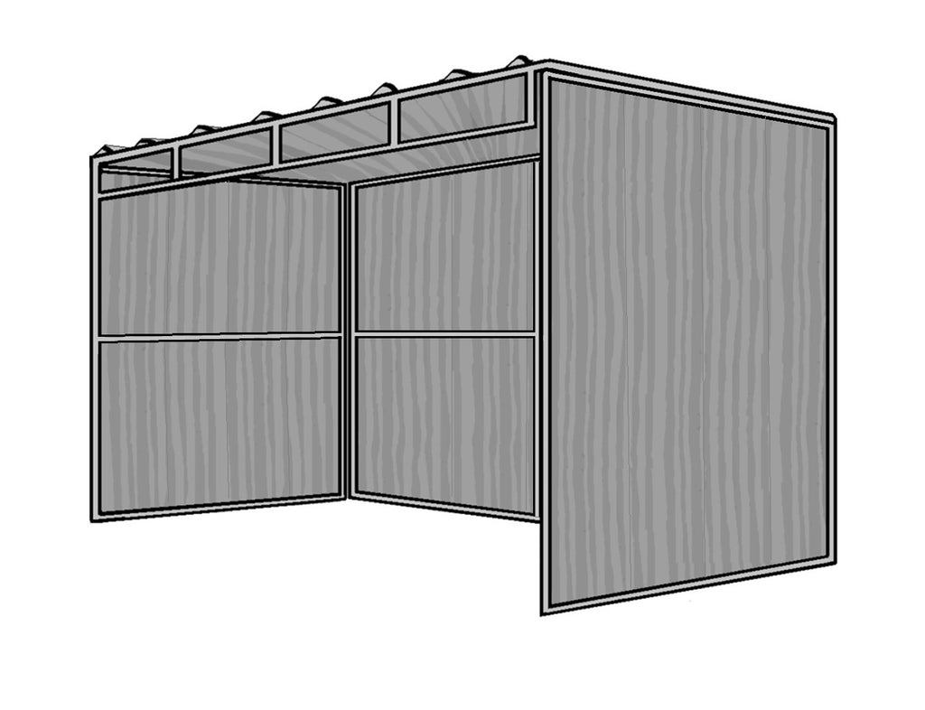 8'D x 12'L 3-Sided Shelter