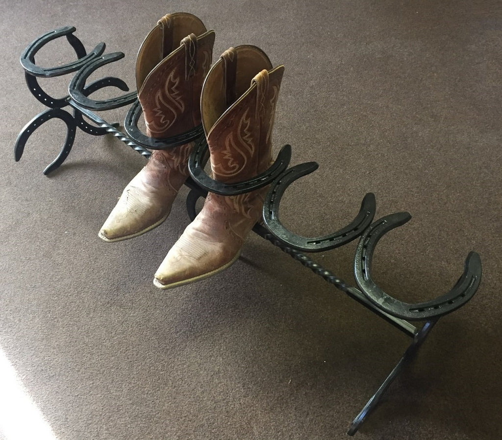 Horse Shoe Boot Rack
