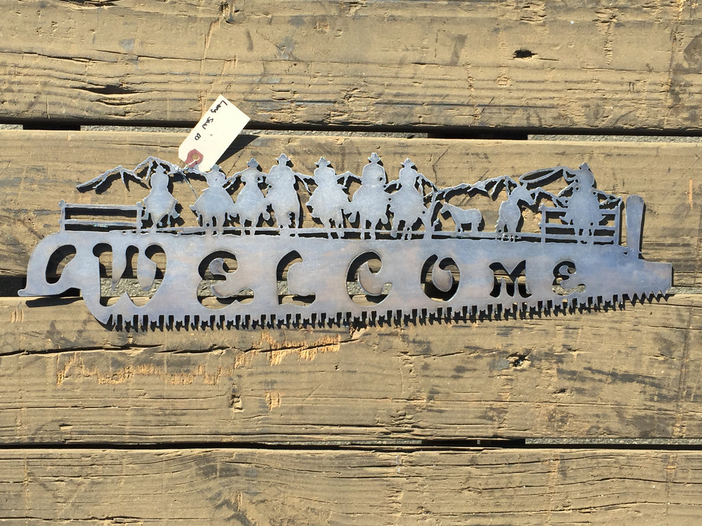 Welcome Saw Cowboy - Laser Art