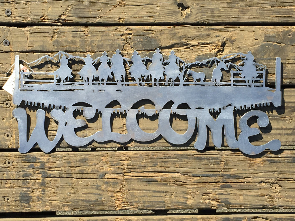 Welcome Cowboys - Laser Art